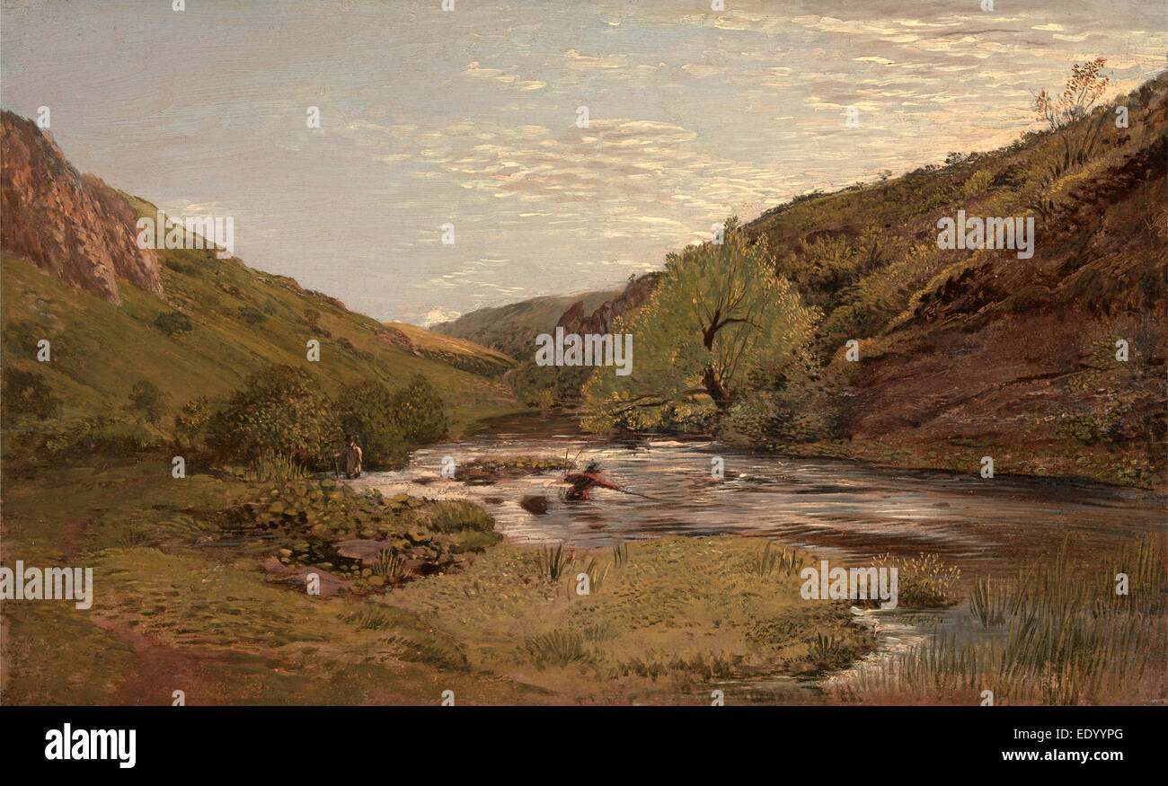 In Dovedale Summer Time, John Linnell, 1792-1882, British - Stock Image