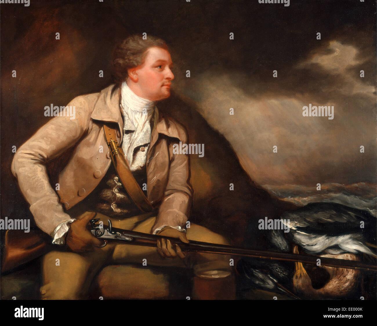Sir William Elford, Bart. William Elford Heron-Shooting in Devon, James Northcote, 1746-1831, British - Stock Image
