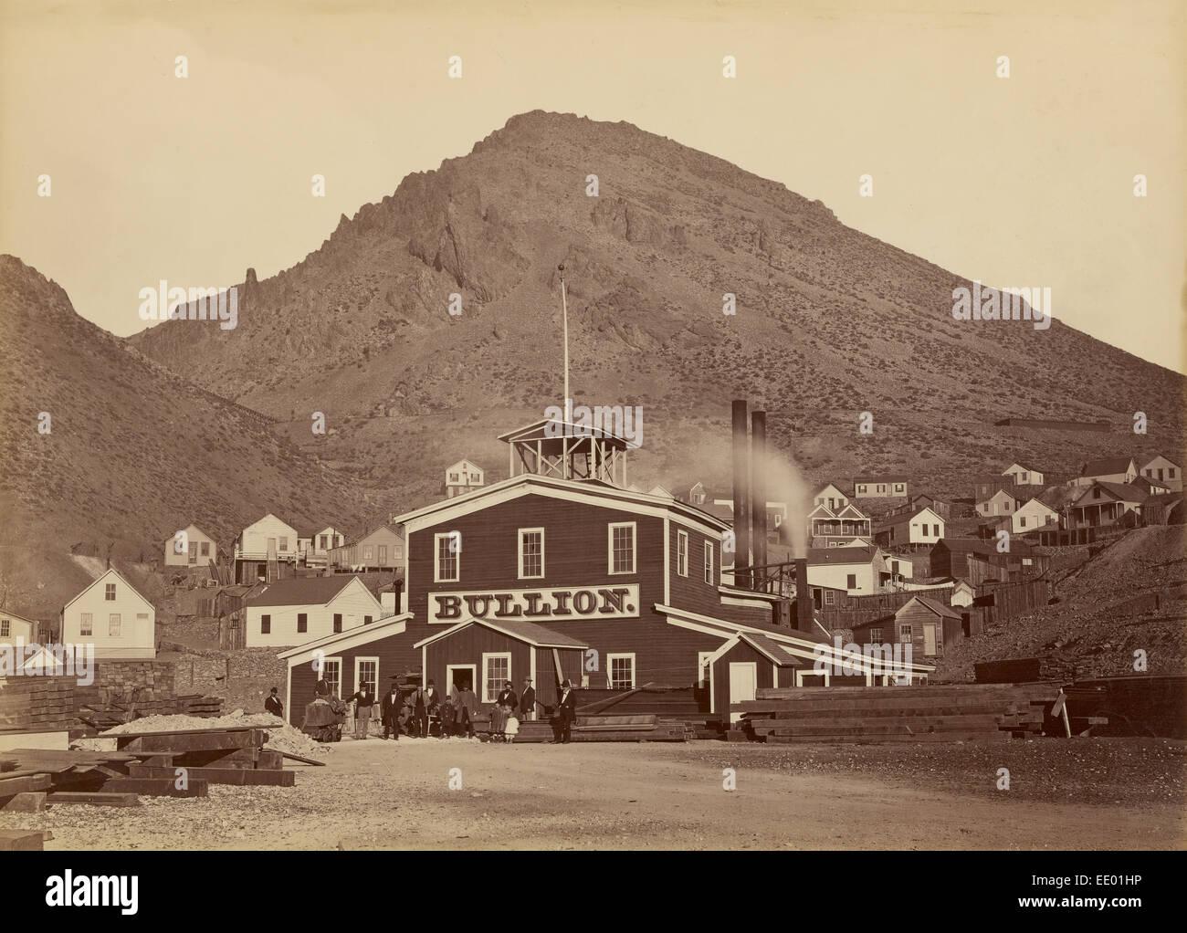 [The Bullion Mine, Virginia City, Nevada]; Carleton Watkins, American, 1829 - 1916; Virginia City, Nevada, United - Stock Image