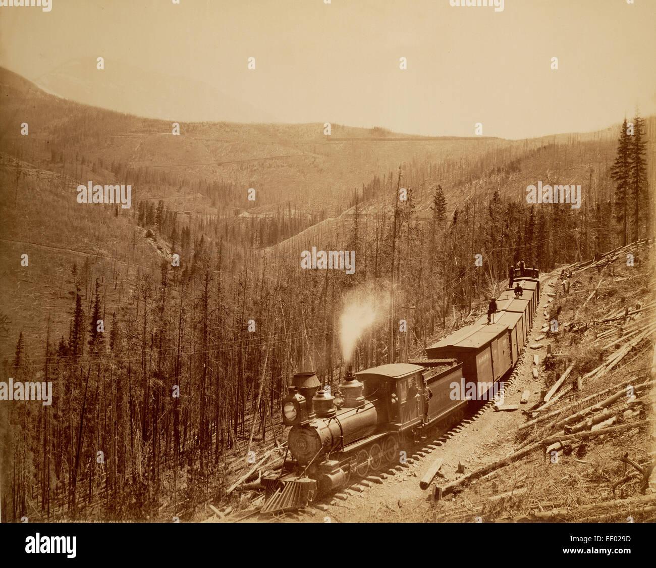 Marshall Pass, Westside; William Henry Jackson, American, 1843 - 1942; Colorado, United States, North America; 1880 - Stock Image