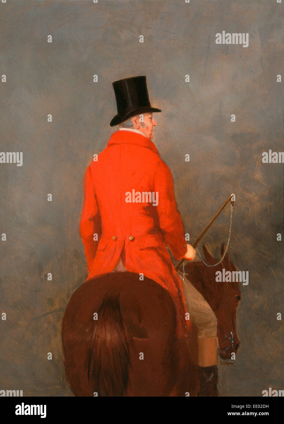 Portrait of Thomas Cholmondeley, 1st Lord Delamere, on His Hunter (study for 'The Cheshire Hunt at Tatton Park') - Stock Image