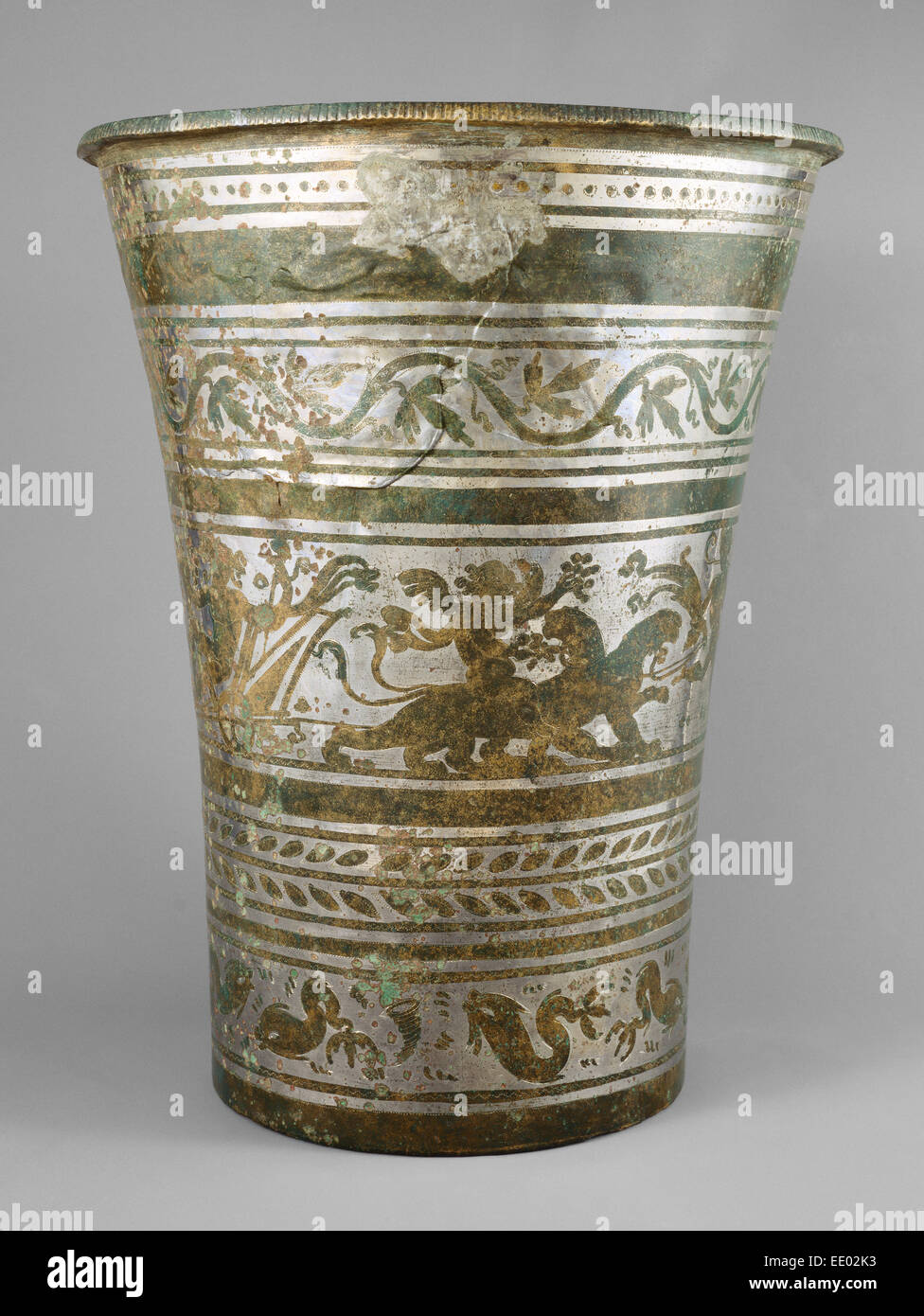 Situla; Unknown; 210 - 230; Bronze with tin plating - Stock Image