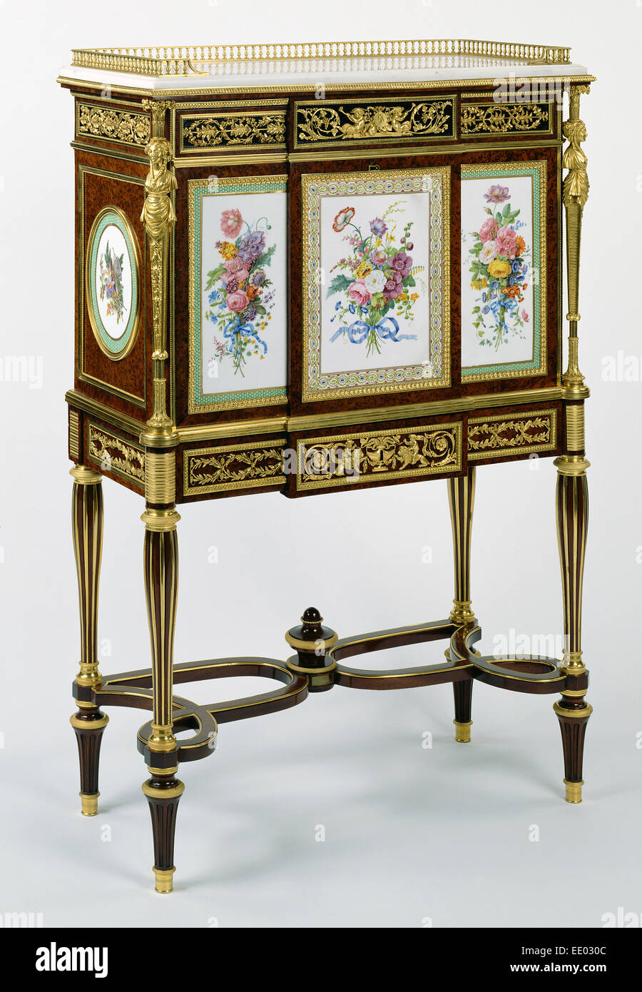 Secrétaire; Attributed to Adam Weisweiler, French, 1744 - 1820, master 1778, active until 1809 - Stock Image