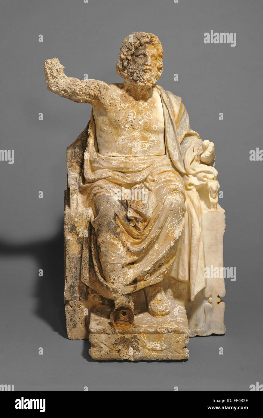 Statue of Zeus Enthroned; Unknown; about 100 B.C.; Marble - Stock Image