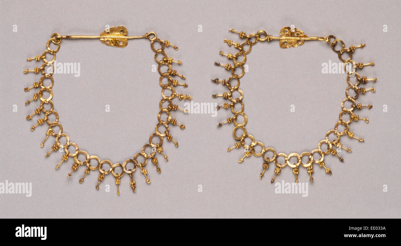 Chain; Unknown; Roman Empire; 250 - 400; Gold - Stock Image