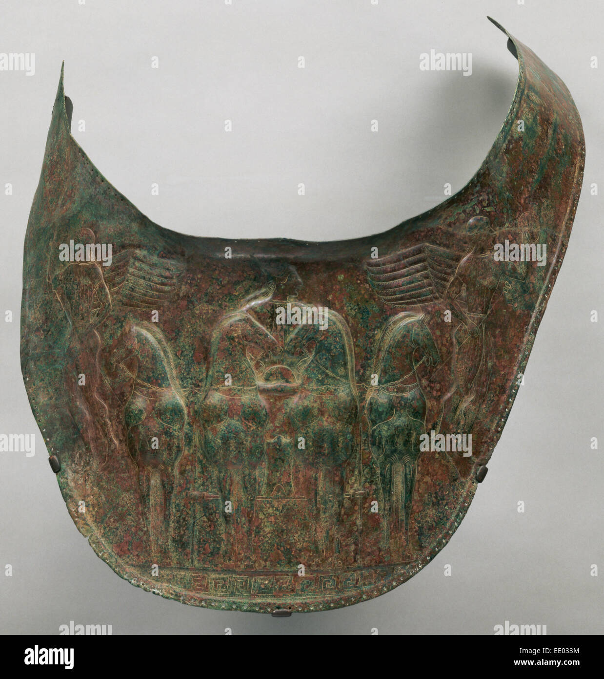 Breastplate; Unknown; South Italy, Europe; about 480 B.C.; Bronze - Stock Image