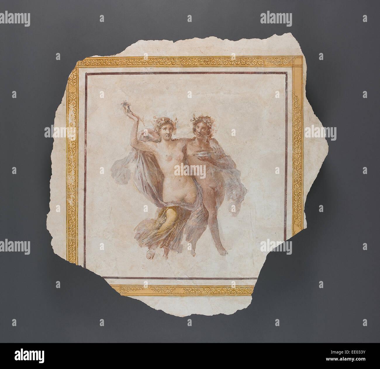 Fresco Panel Depicting Dionysos and Ariadne; Unknown; Italy, Europe; 1st century; Fresco - Stock Image