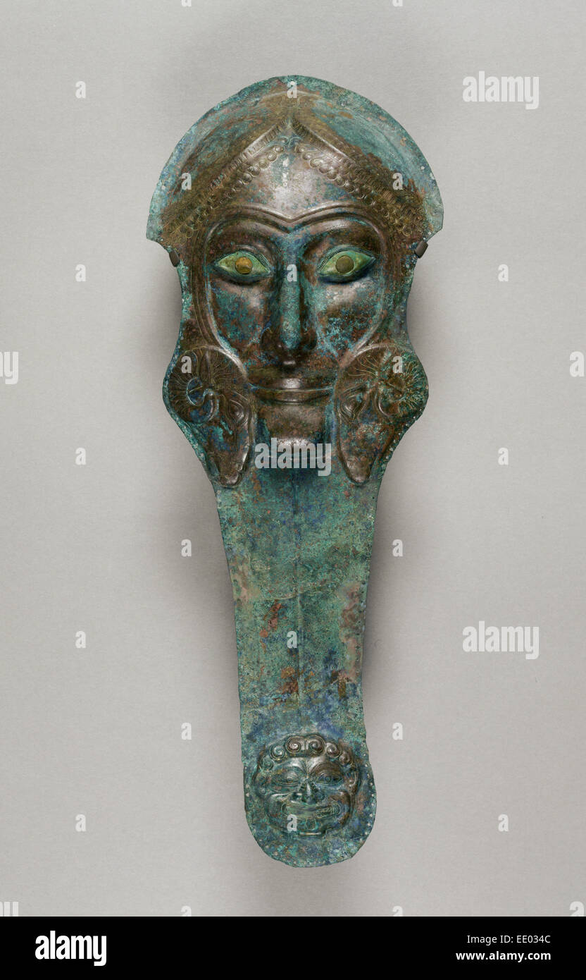 Prometopidion; Unknown; South Italy, Europe; about 480 B.C.; Bronze, amber, ivory - Stock Image