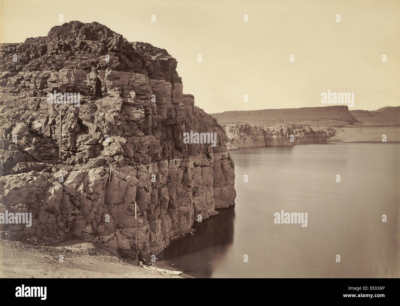 [The Dalles, Extremes of High & Low Water, 92 ft.] / [Head of the Dalles, Columbia River, Oregon]; Carleton - Stock Image