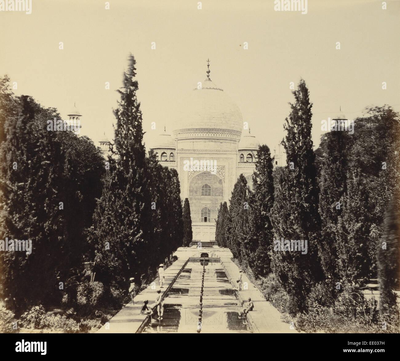 Entrance View of the Taj; Felice Beato, English, born Italy, 1832 - 1909, Henry Hering, British, 1814 - 1893; negative - Stock Image