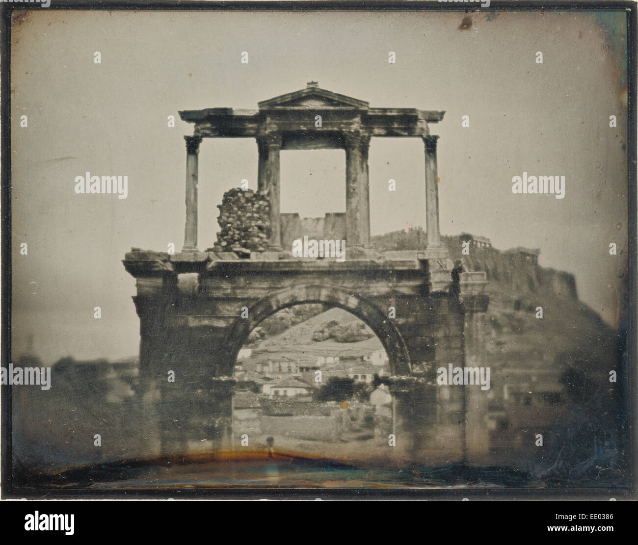 The Arch of Hadrian, Athens; Philippos Margaritis, Greek, 1810 - 1892, and Philibert Perraud, French, born 1815; - Stock Image