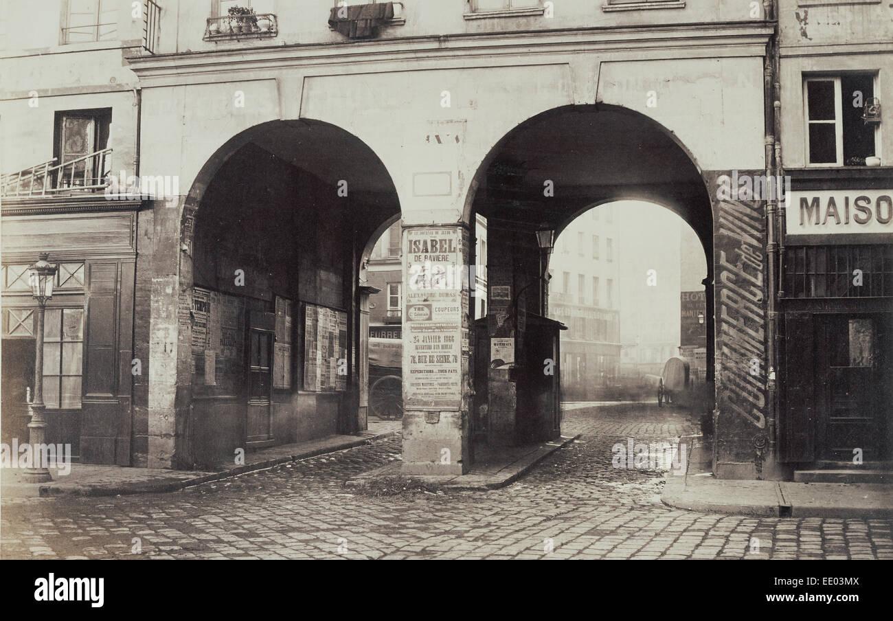 [Les Deux-Portes. Vue prise de la rue des Innocents vers la rue de la Ferronnerie.]; Charles Marville, French, 1813 - Stock Image