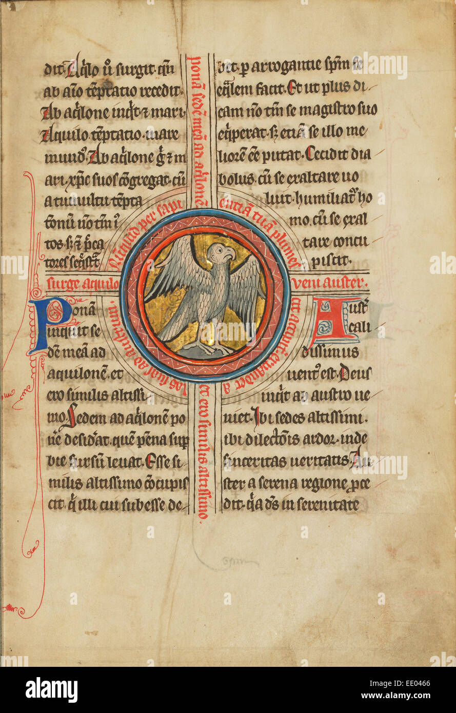 A Falcon within a Cross; Unknown; Thérouanne ?, France (formerly Flanders), Europe; fourth quarter of 13th - Stock Image