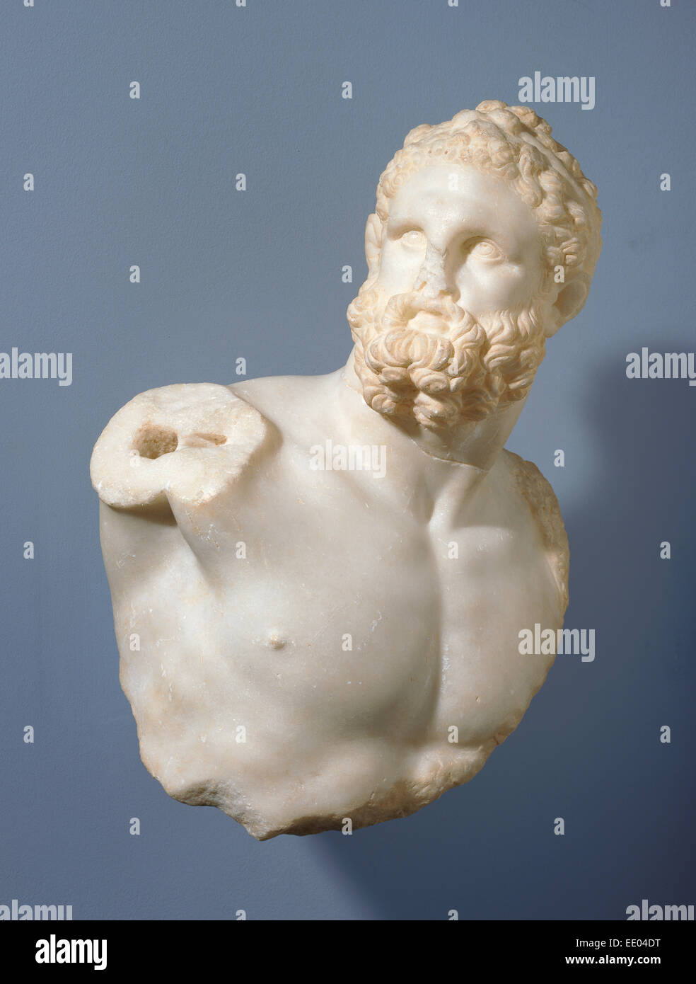 Bust of a Pugilist and detached fragments (2); Unknown; Alexandria, Egypt, Africa; 100 - 200; Marble - Stock Image