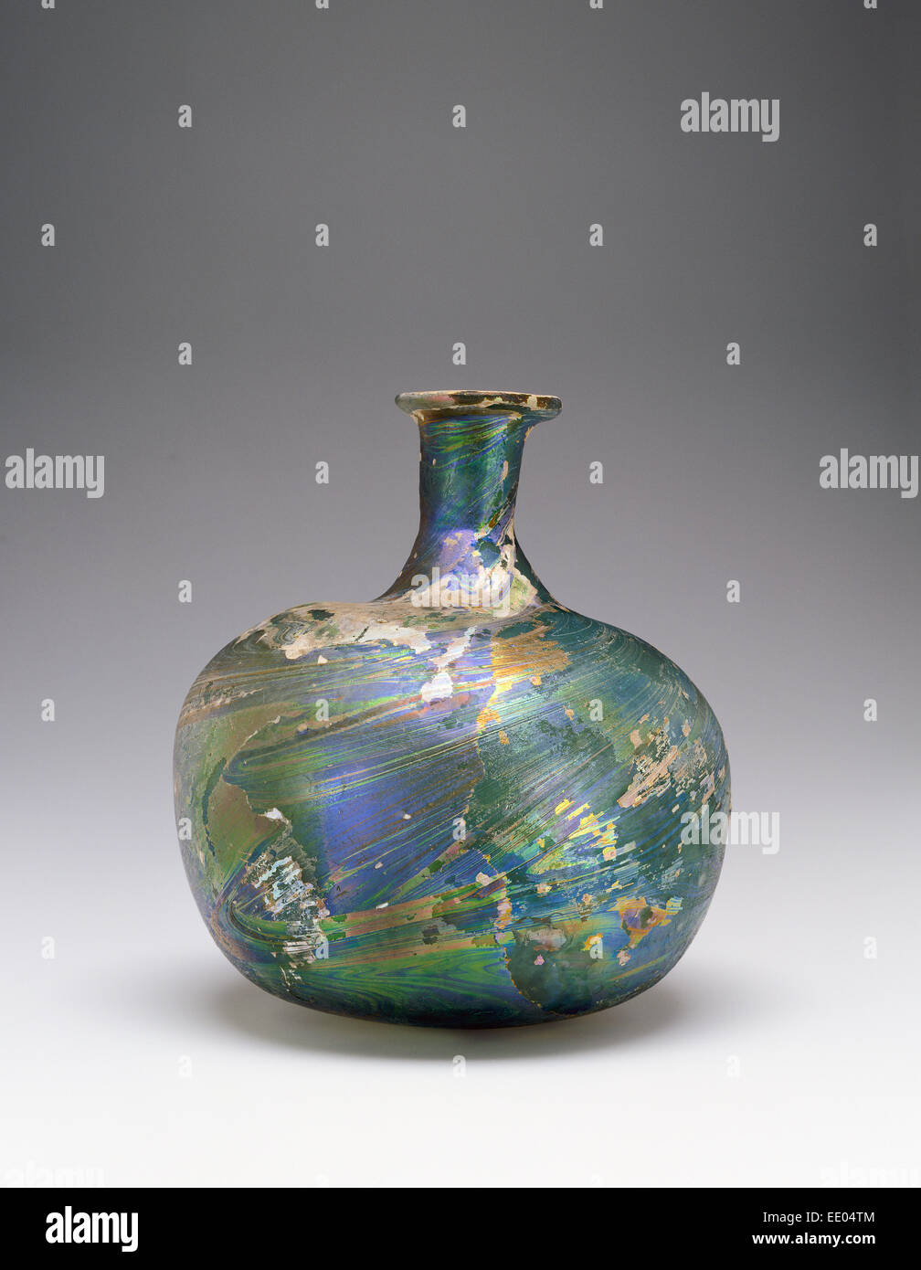Bottle; Unknown; Middle East; 9th century; Glass - Stock Image