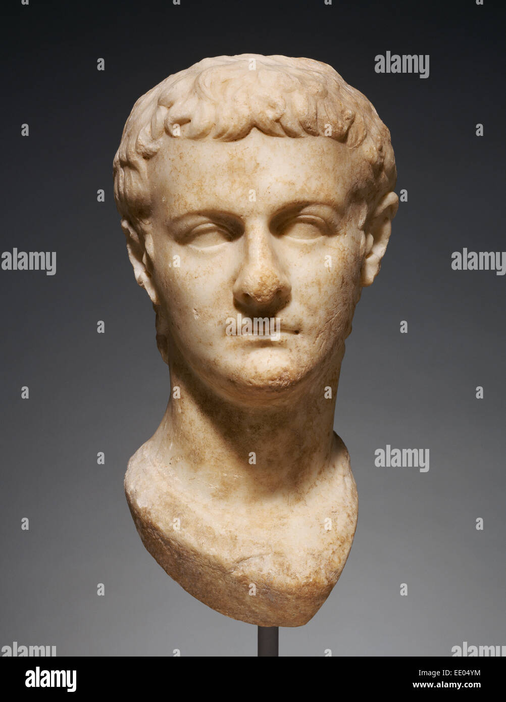 Portrait Head of Caligula; Unknown; Asia Minor; about 40; Marble - Stock Image