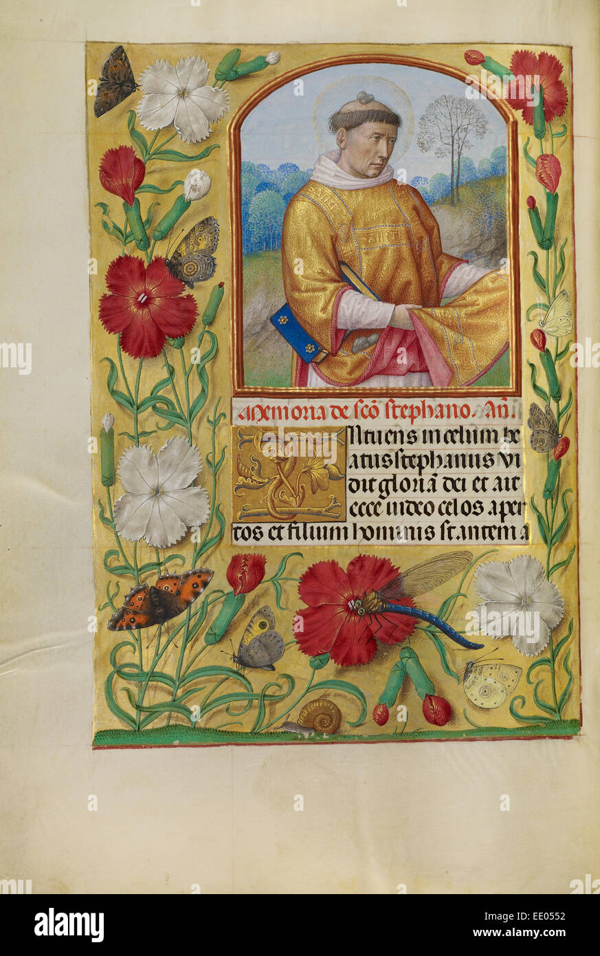 Saint Stephen; Workshop of Master of the First Prayer Book of Maximilian, Flemish, active about 1475 - 1515; Bruges, - Stock Image