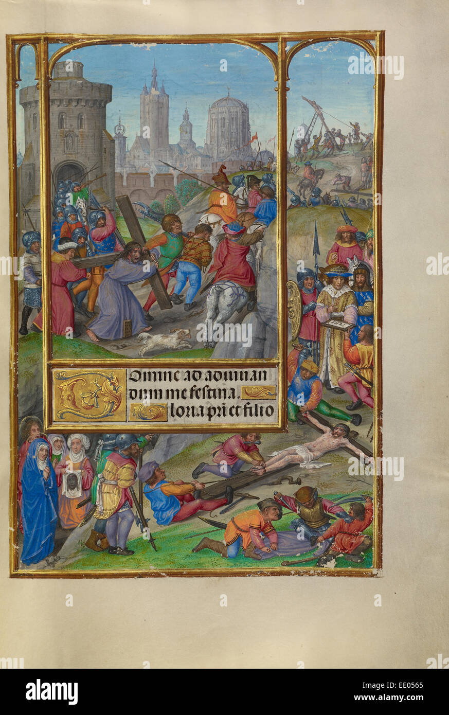 The Way to Calvary; Master of James IV of Scotland, Flemish, before 1465 - about 1541; Bruges, Belgium, Europe - Stock Image