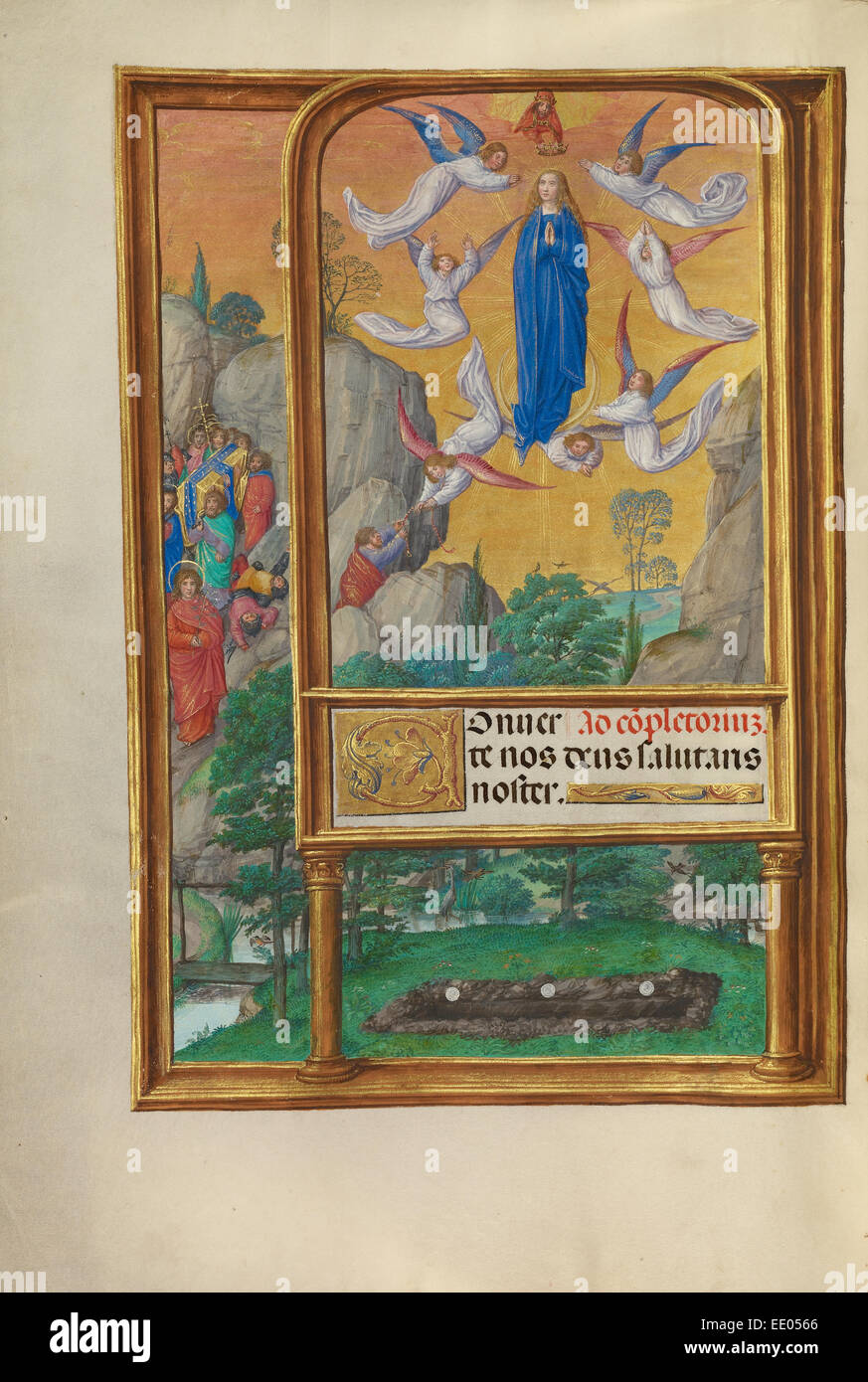 The Assumption of the Virgin; Master of James IV of Scotland, Flemish, before 1465 - about 1541; Bruges, Belgium, - Stock Image