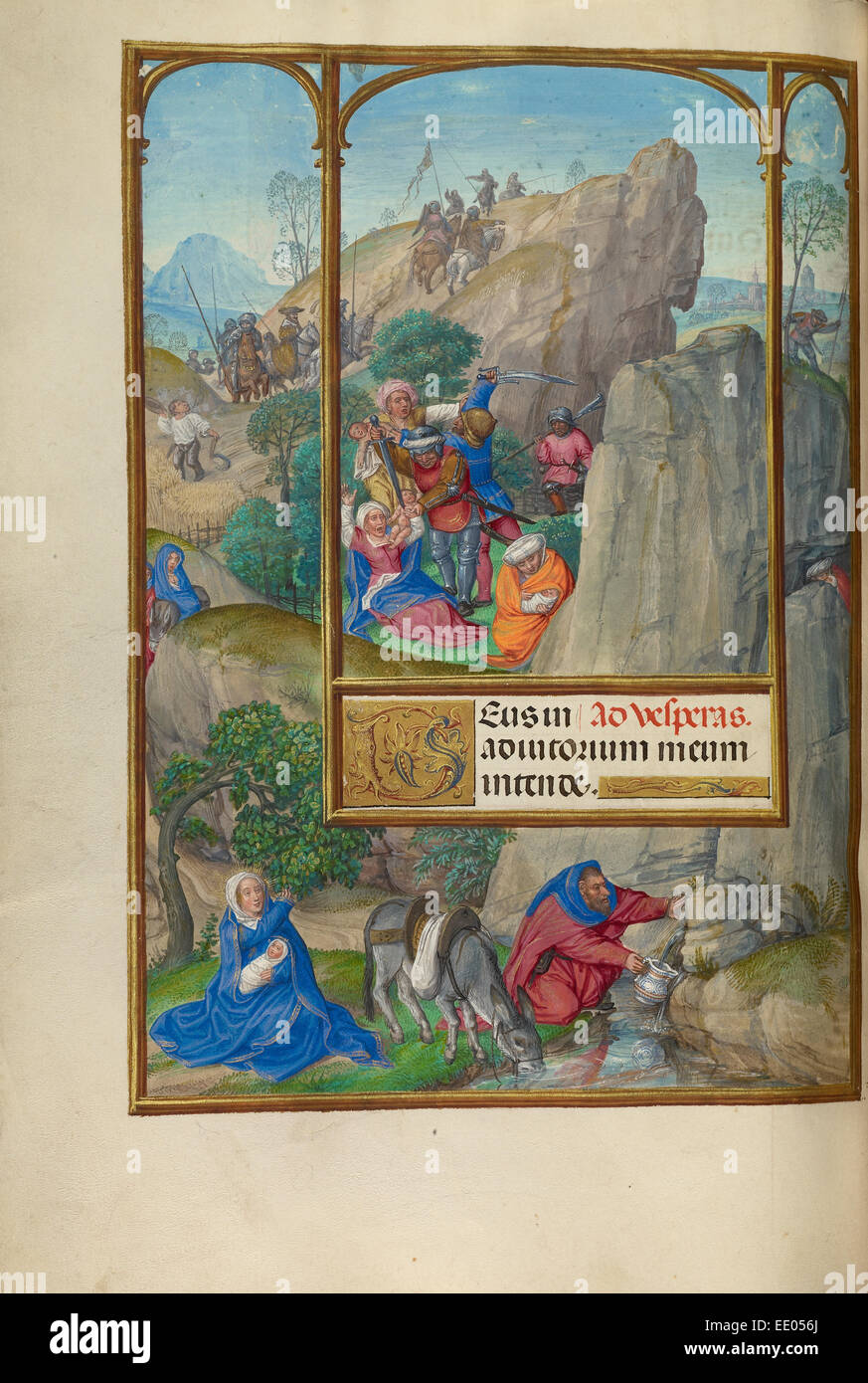 The Massacre of the Innocents; Master of James IV of Scotland, Flemish, before 1465 - about 1541; Bruges, Belgium, - Stock Image