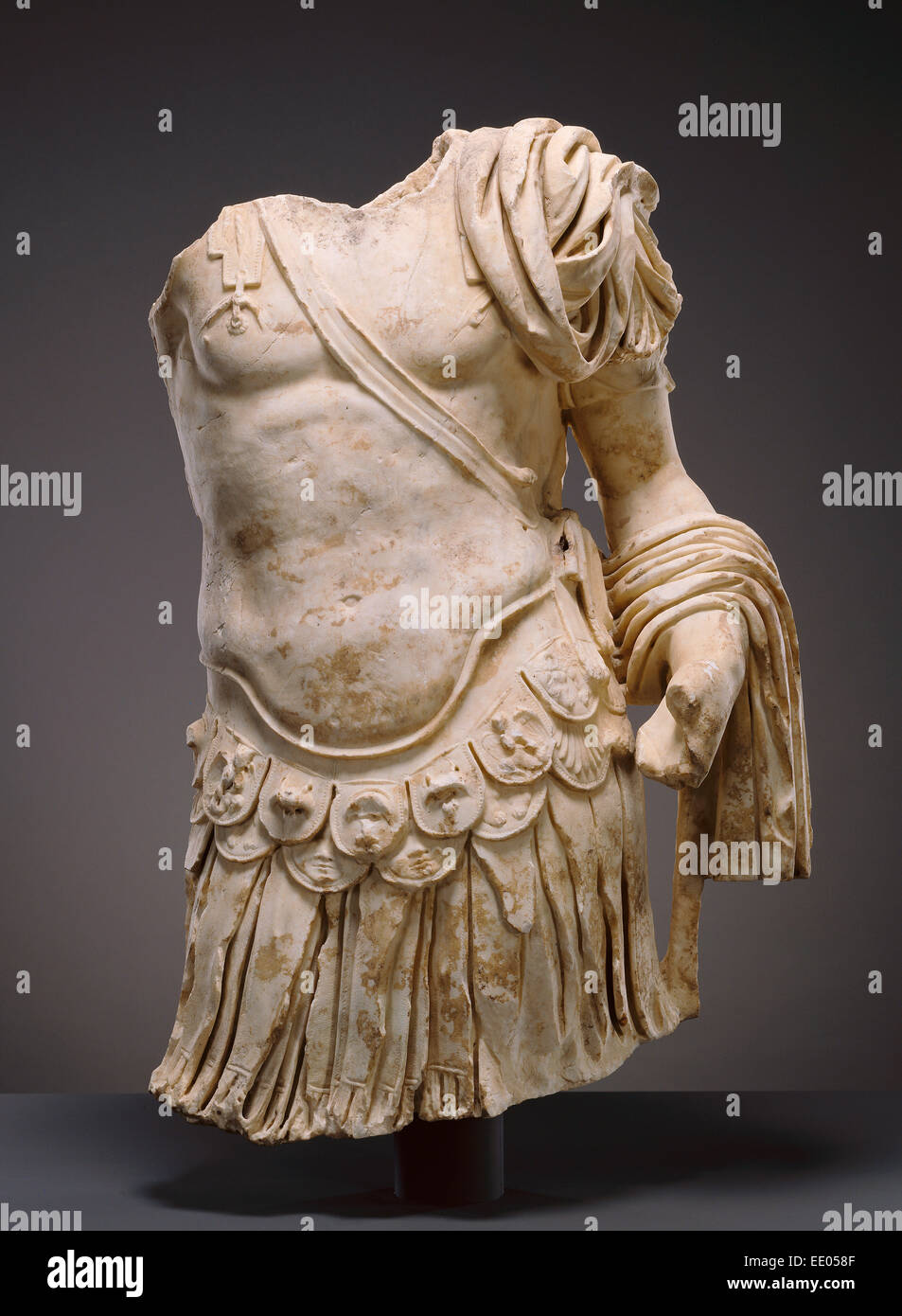 Torso of a Cuirassed Statue; Unknown; Italy, Europe; about 83 - 85; Marble - Stock Image