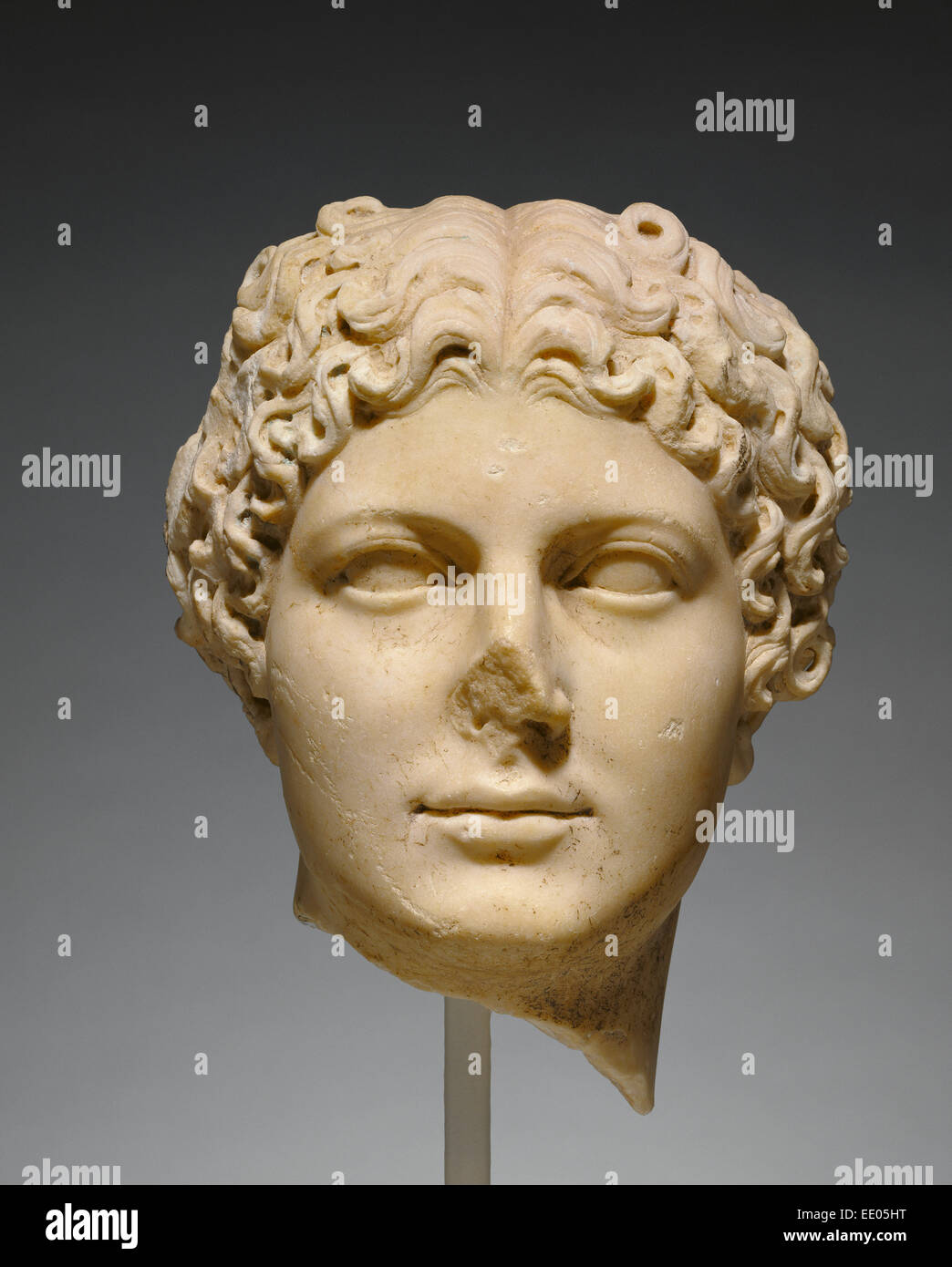 Portrait Head of Agrippina the Younger; Unknown; Roman Empire; about 50; Marble - Stock Image