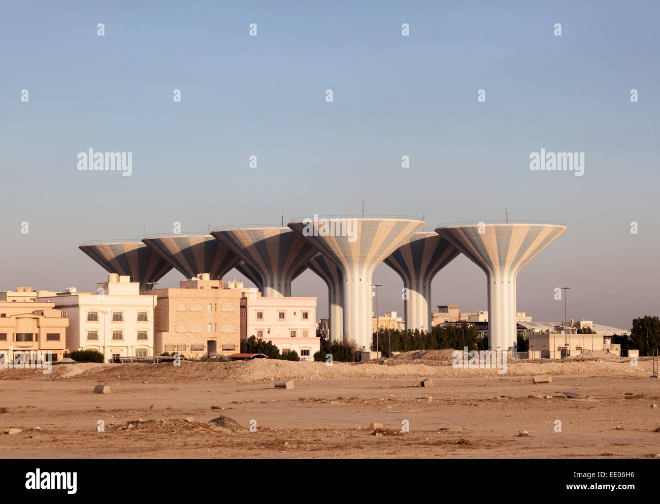 Water towers in Kuwait - Stock Image