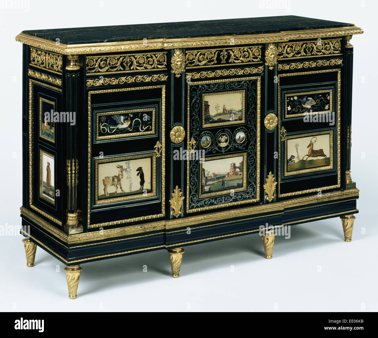 Cabinet (one of a pair); Attributed to Adam Weisweiler, French, 1744 - 1820, master 1778, active until 1809; Paris, - Stock Image