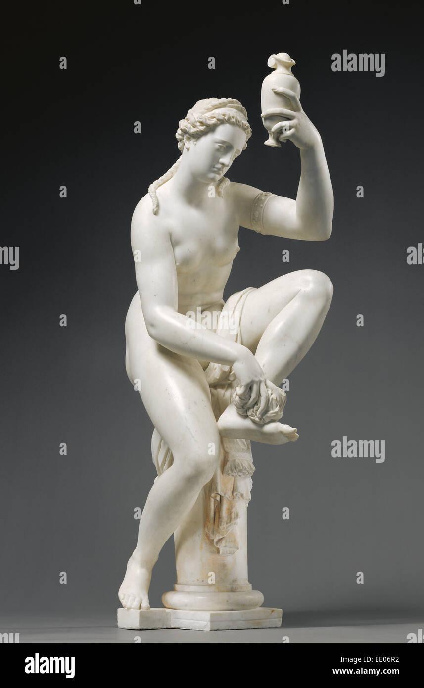 Female Figure (possibly Venus, formerly titled Bathsheba); Giambologna (Giovanni da Bologna or Jean de Boulogne), - Stock Image