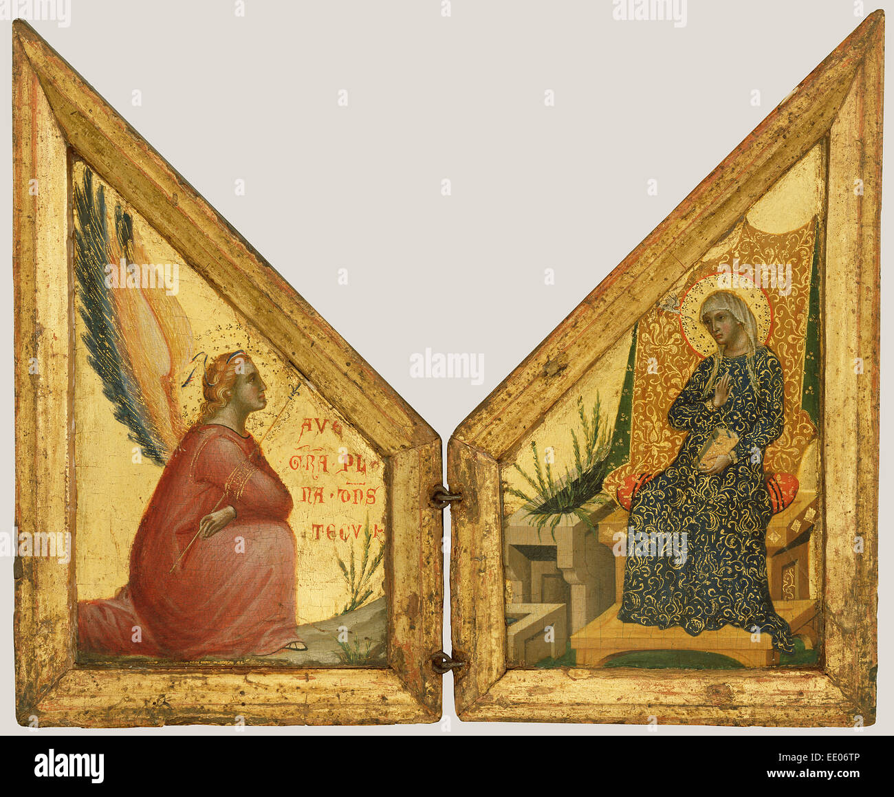 The Annunciation; Paolo Veneziano, Italian (Venetian), active 1333 - 1358; Italy, Europe; about 1348 - 1350 - Stock Image