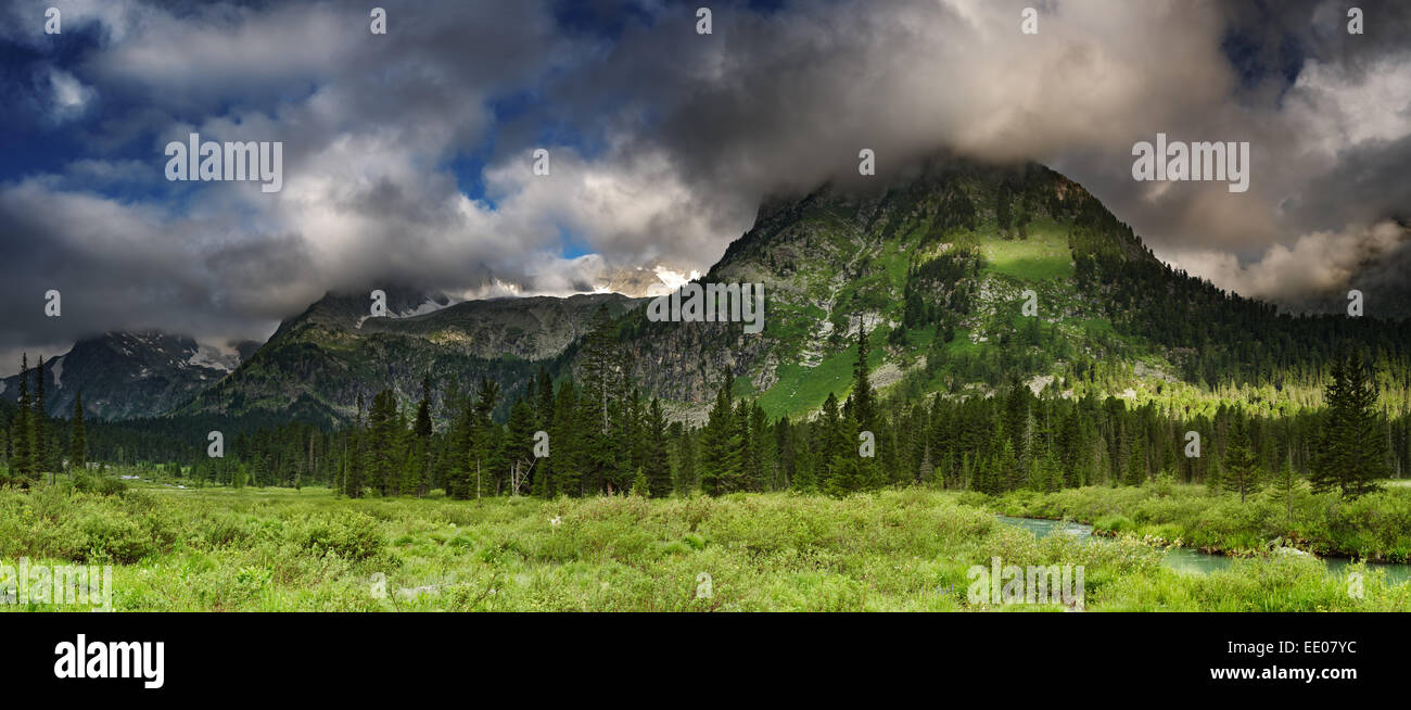 Beautiful valley in Altai mountains - Stock Image