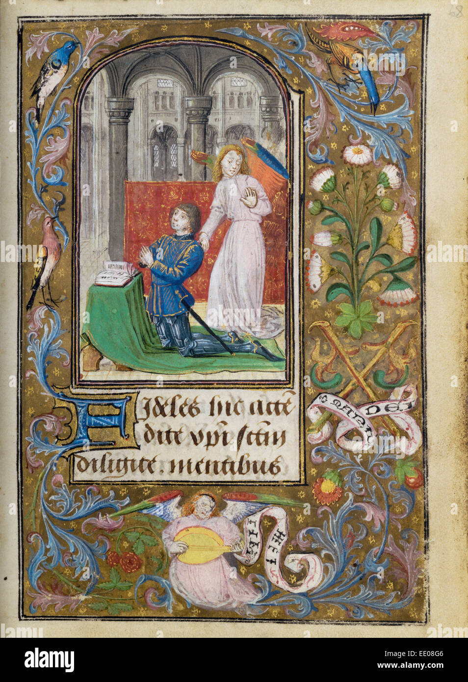 Charles the Bold Presented by an Angel; Lieven van Lathem, Flemish, about 1430 - 1493, active 1454 - 1493; Ghent Stock Photo