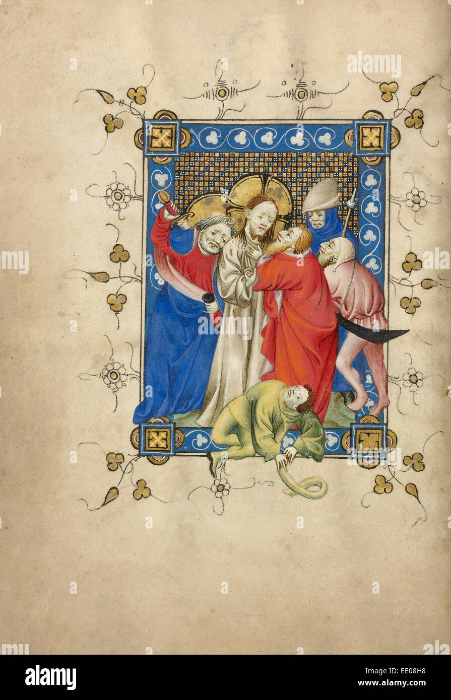 The Betrayal of Christ; Masters of Dirc van Delf, Dutch, active about 1400 - about 1410; Utrecht (probably), Netherlands, - Stock Image