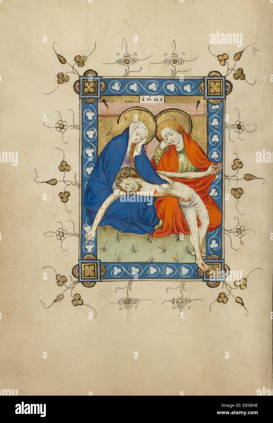 The Lamentation; Masters of Dirc van Delf, Dutch, active about 1400 - about 1410; Utrecht (probably), Netherlands, - Stock Image