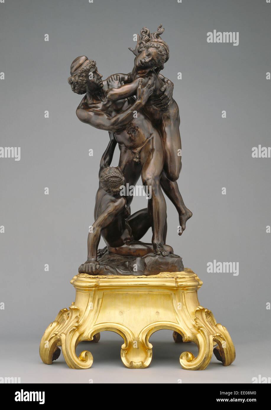 The Abduction of Helen by Paris; Giovanni Francesco Susini, Italian, 1585 - 1653; Italy, Europe; 1627; Bronze - Stock Image