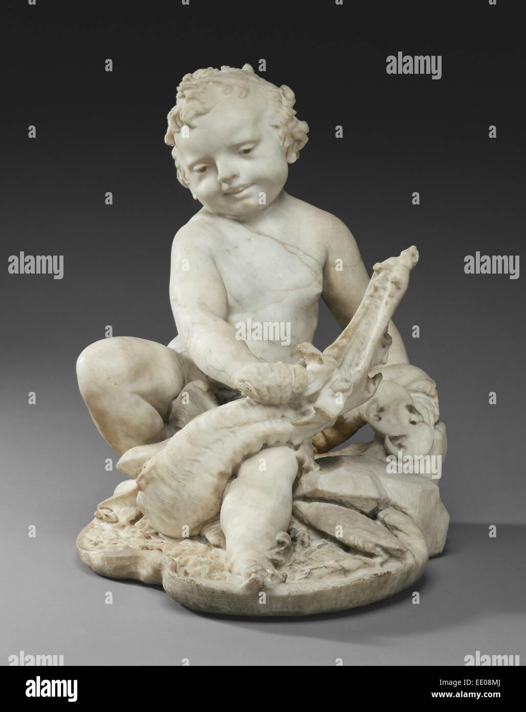 Boy with a Dragon; Pietro Bernini, Italian, 1562 - 1629, and Gian Lorenzo Bernini, Italian, 1598 - 1680; Rome, Italy, - Stock Image