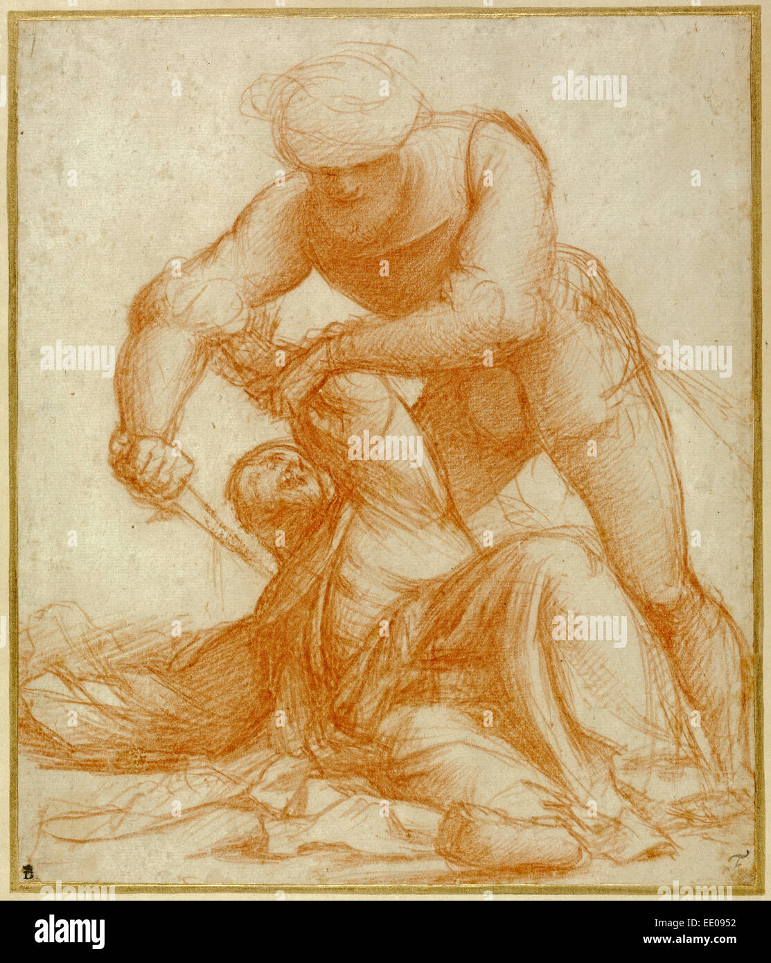 Study of the Martyrdom of Saint Peter Martyr; Pordenone (Giovanni Antonio de'Sacchis), Italian, about 1483/1484 - Stock Image