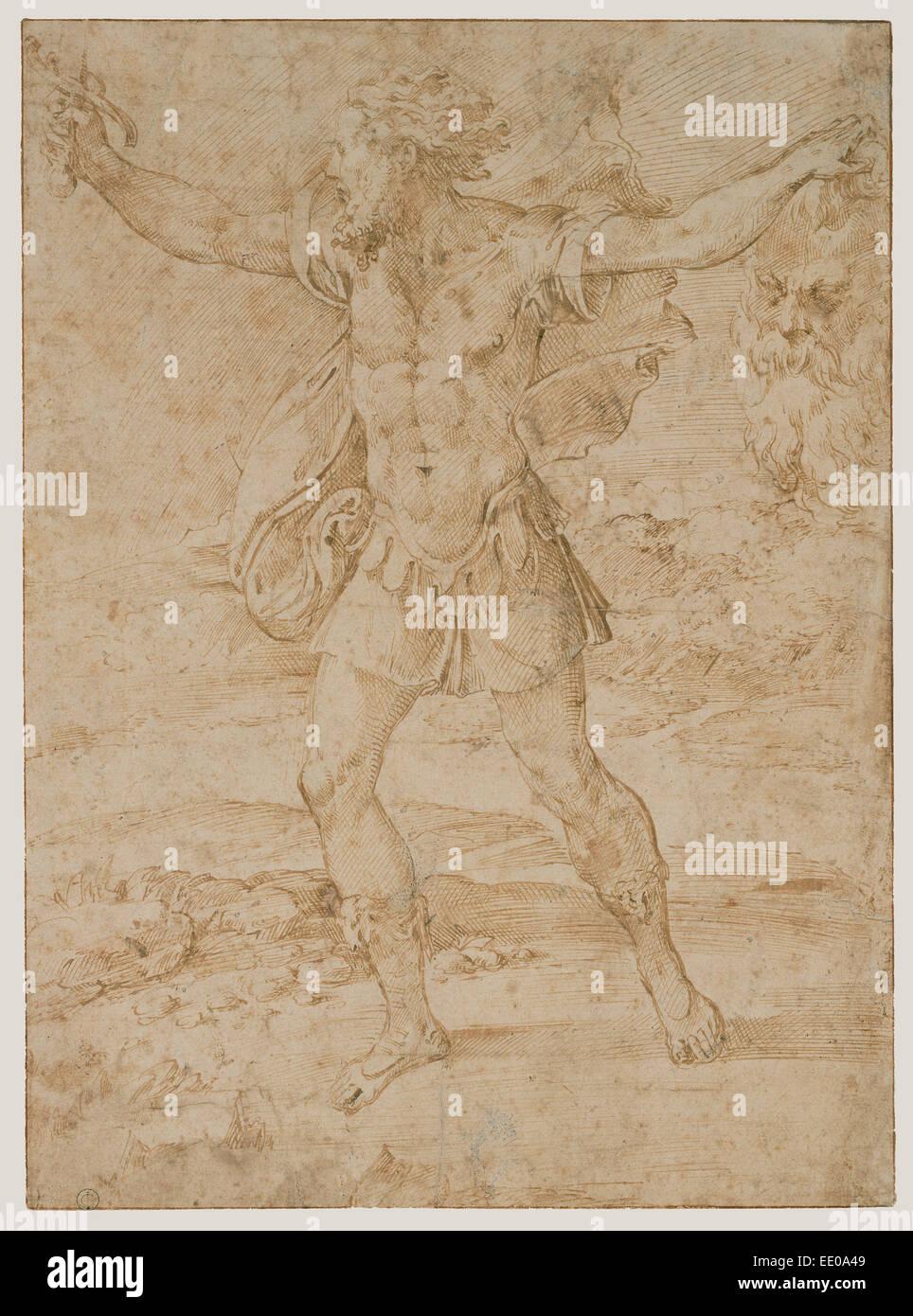 David With The Head Of Goliath; Parmigianino (Francesco Mazzola), Italian,  1503