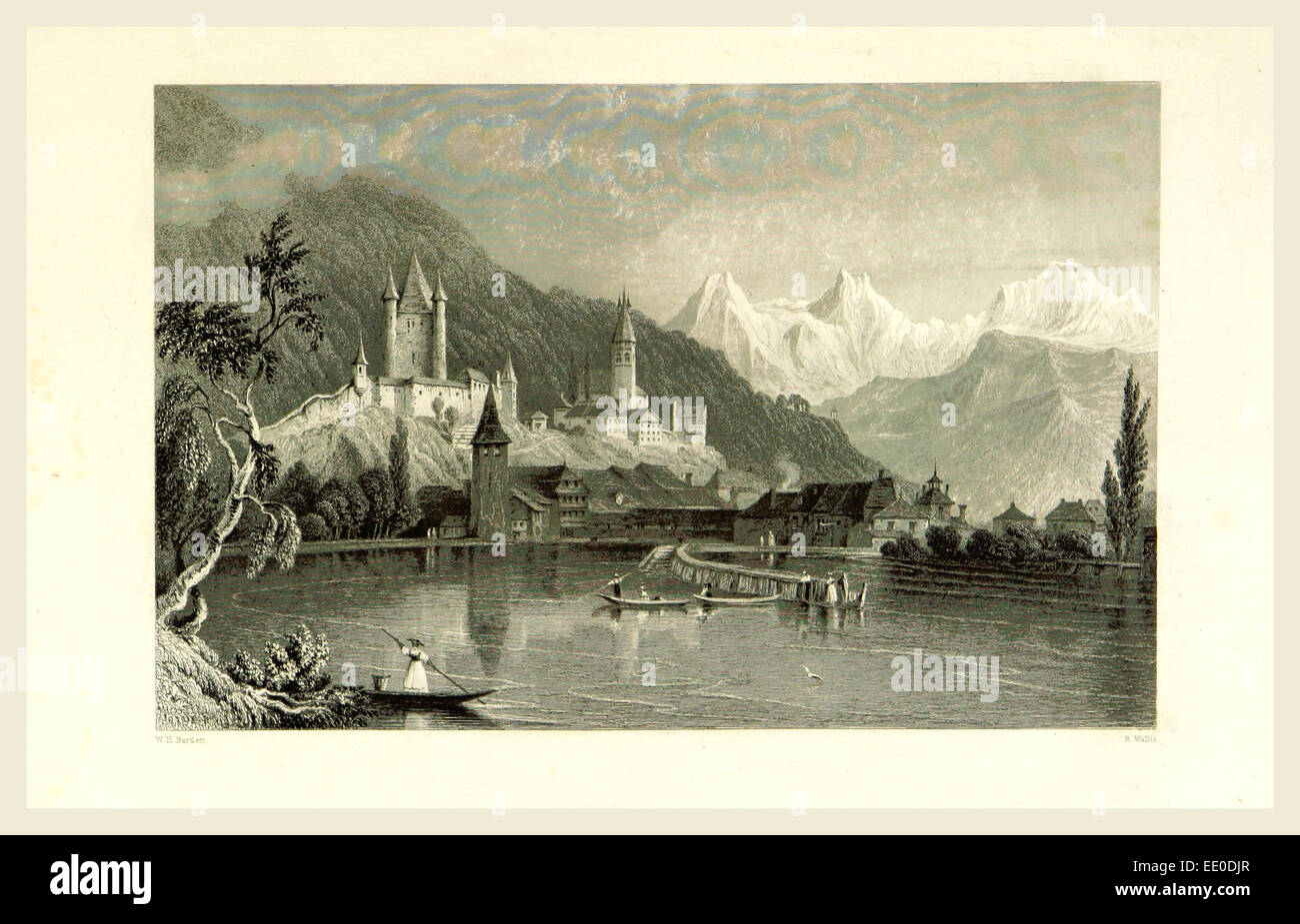 Switzerland. Illustrated in a series of views taken expressly for this work by W. H. Bartlett - Stock Image