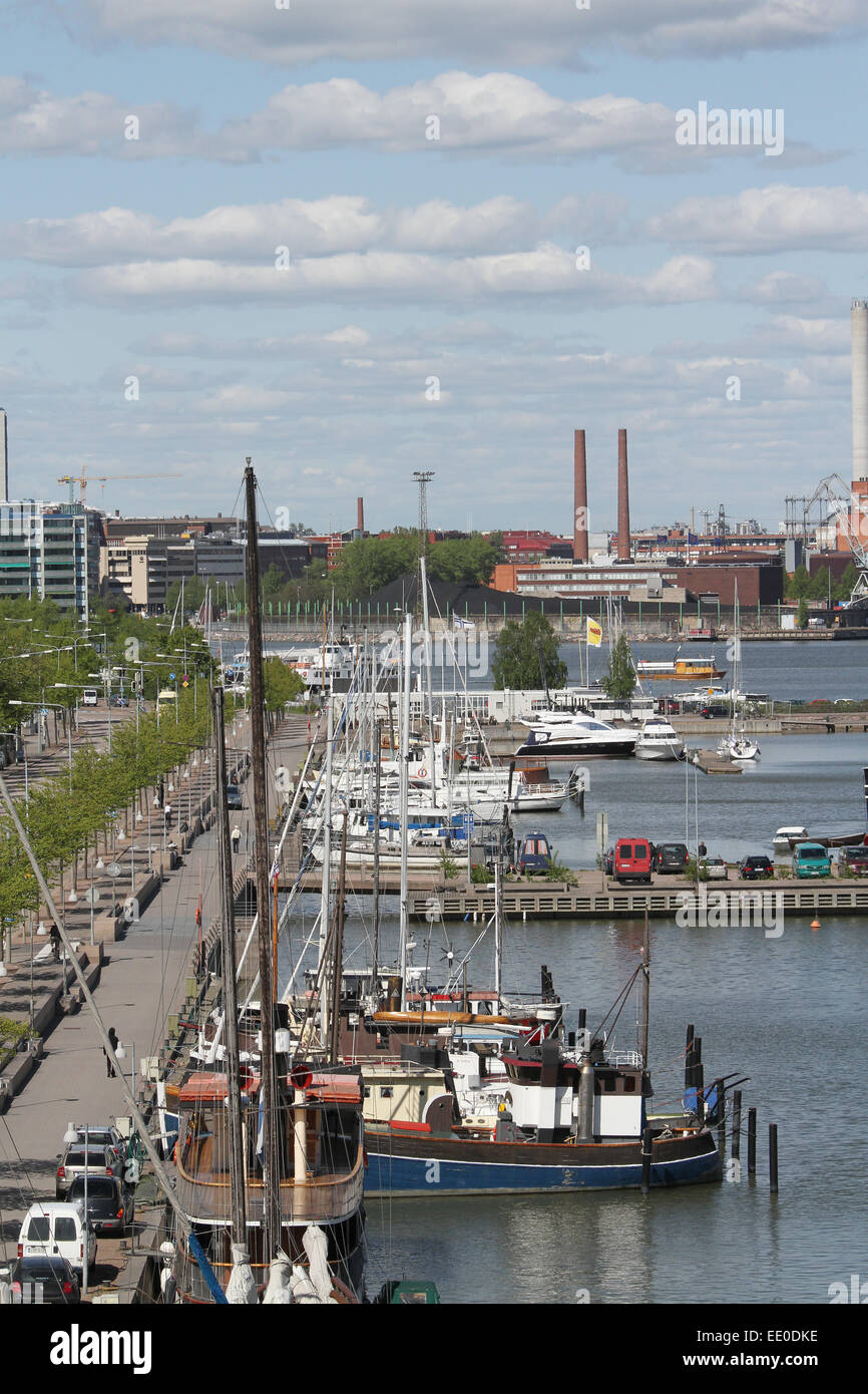 View across the North Harbour in Helsinki - Stock Image