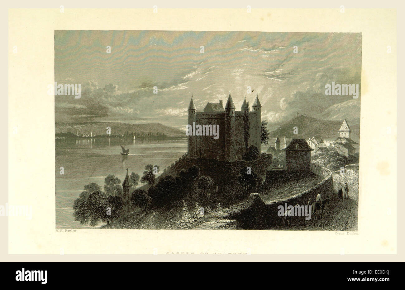 Switzerland, Castle Illustrated in a series of views taken expressly for this work by W. H. Bartlett,, 19th century - Stock Image