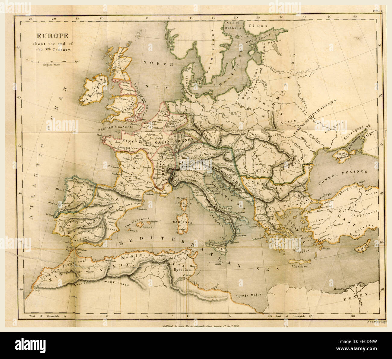 Europe 19th Century Map Stock Photos Europe 19th Century Map Stock