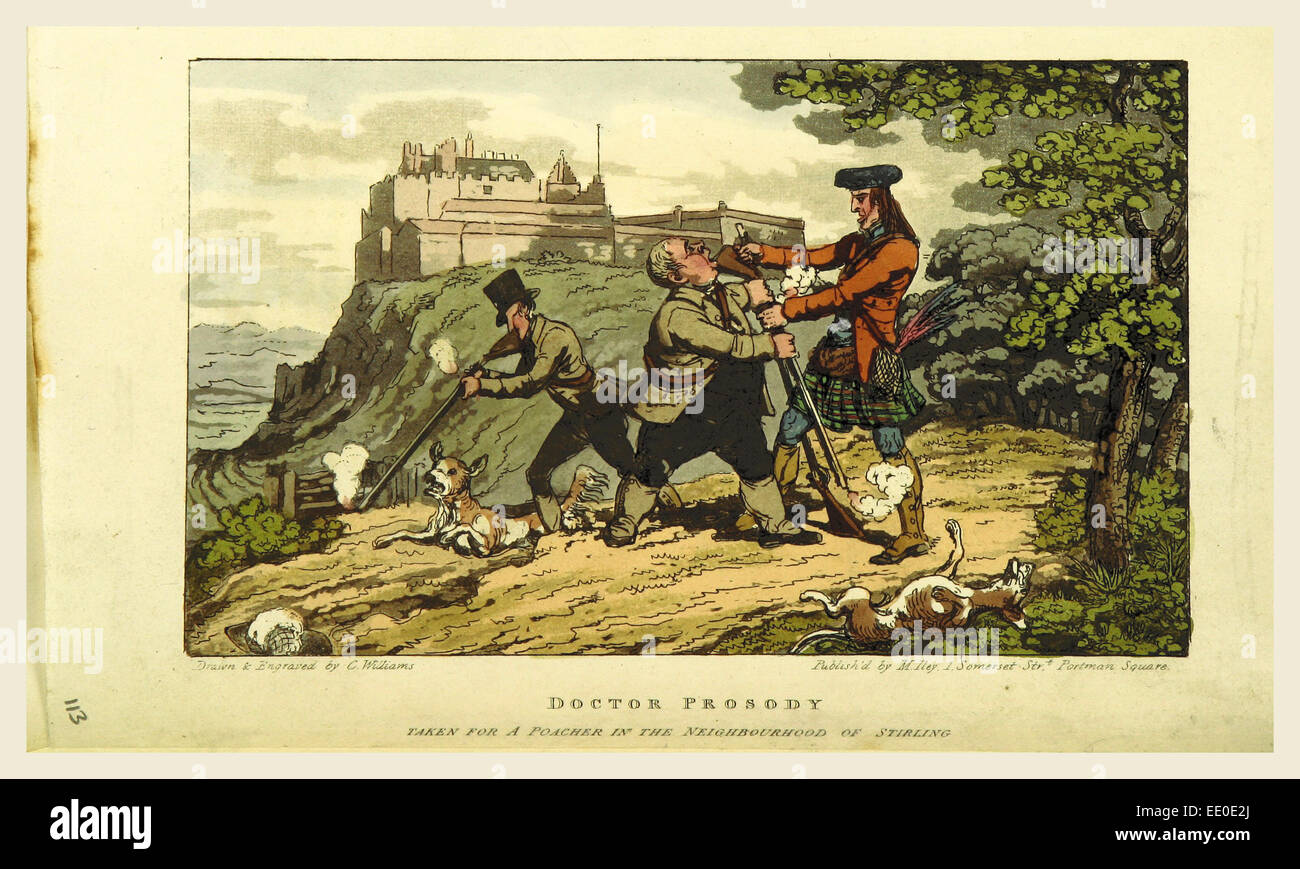 The Tour of Doctor Prosody, in search of the antique and picturesque, through Scotland, the Hebrides, the Orkney, - Stock Image