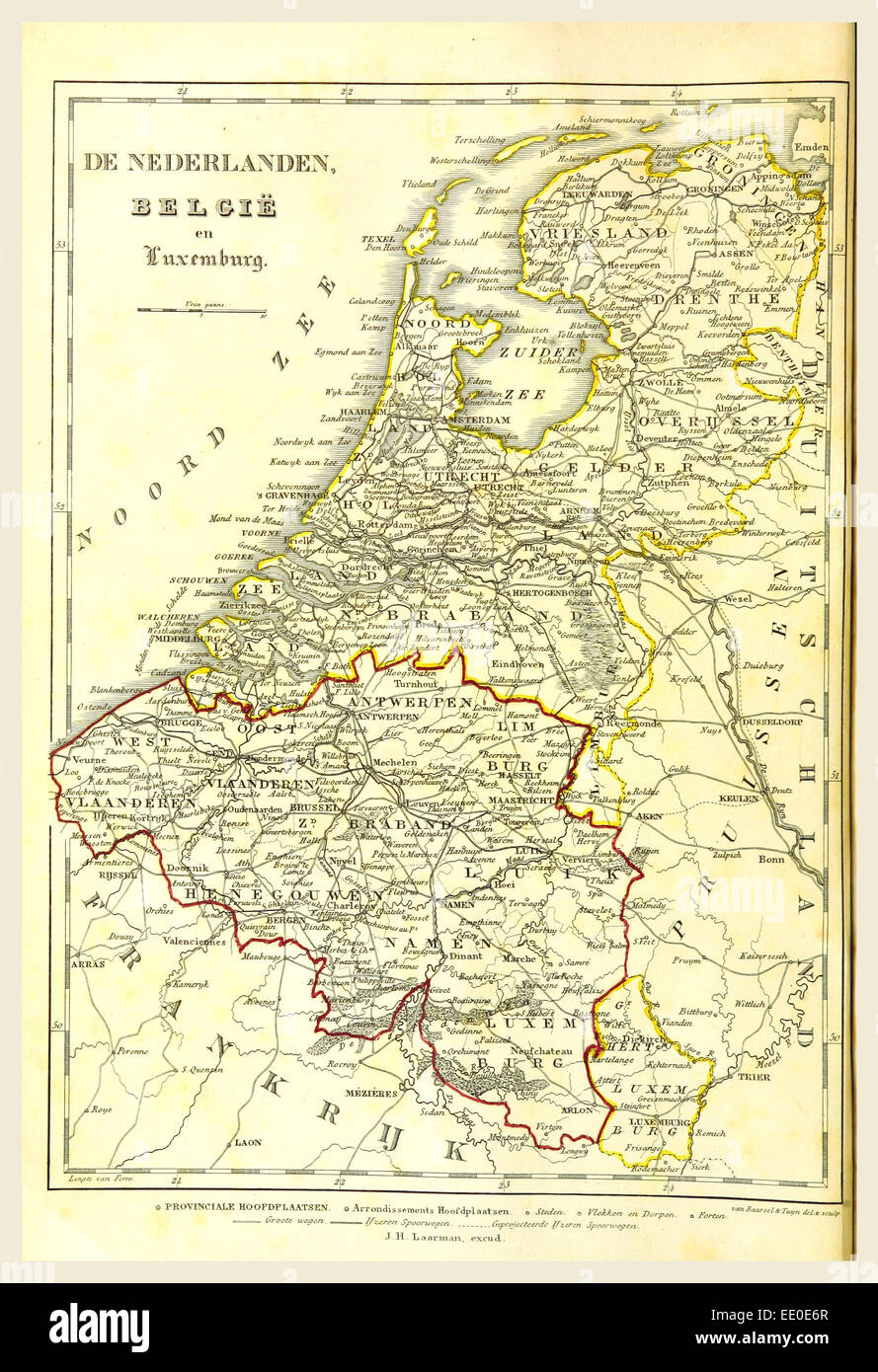 map of the netherlands belgium luxemburg 19th century engraving