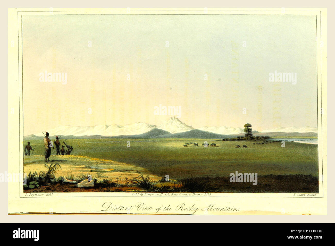 View of the Rocky Mountains, 1823 - Stock Image