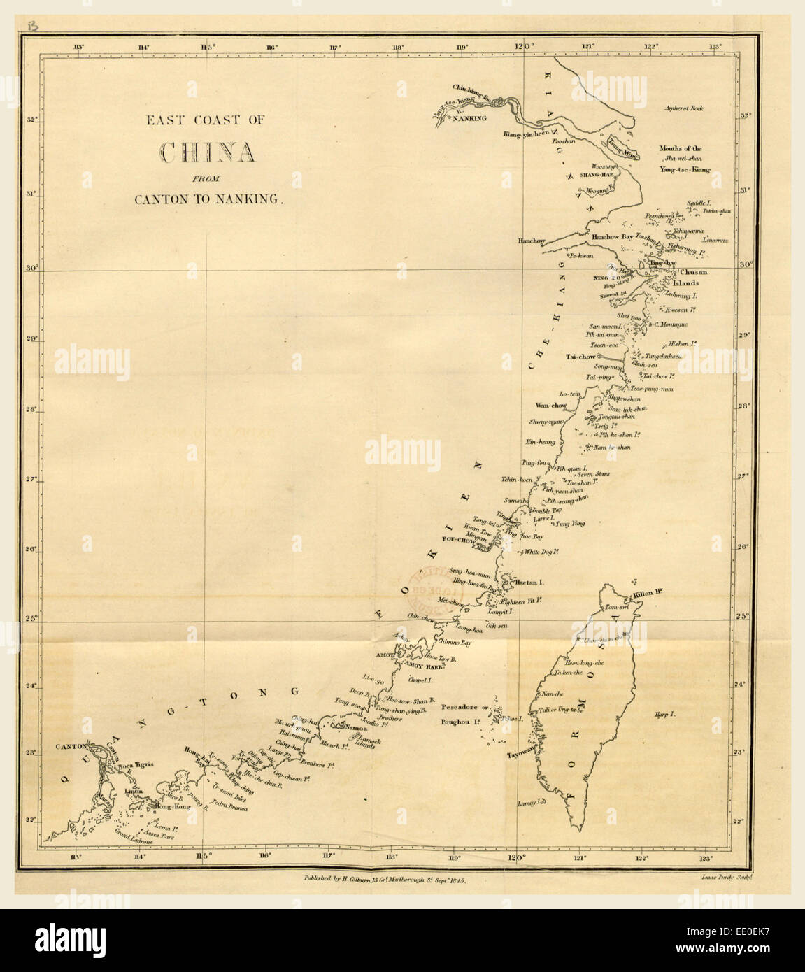 Topographical Map of the East coast of China from Canton to Nanking