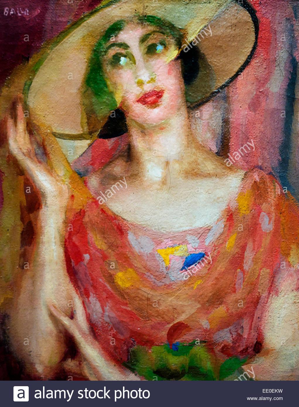 Veli rosa. Ritratto di Luce - Veils pink. Portrait of Light 1922  Giacomo Balla, Italy, Italian. - Stock Image