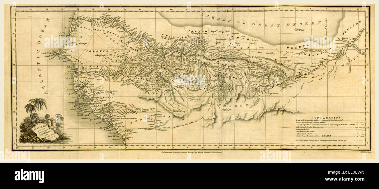 Travels in Western Africa in the years 1819-21, from the river Gambia  to the river Niger - Stock Image