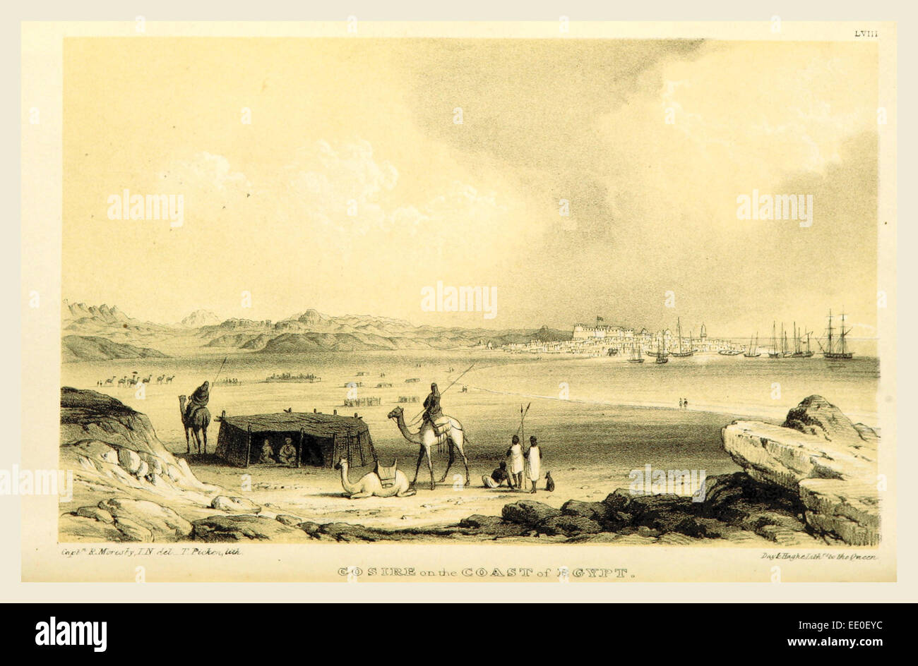 Cosire Egypt, during the years 1835, 1836, and 1837, 19th century engraving - Stock Image