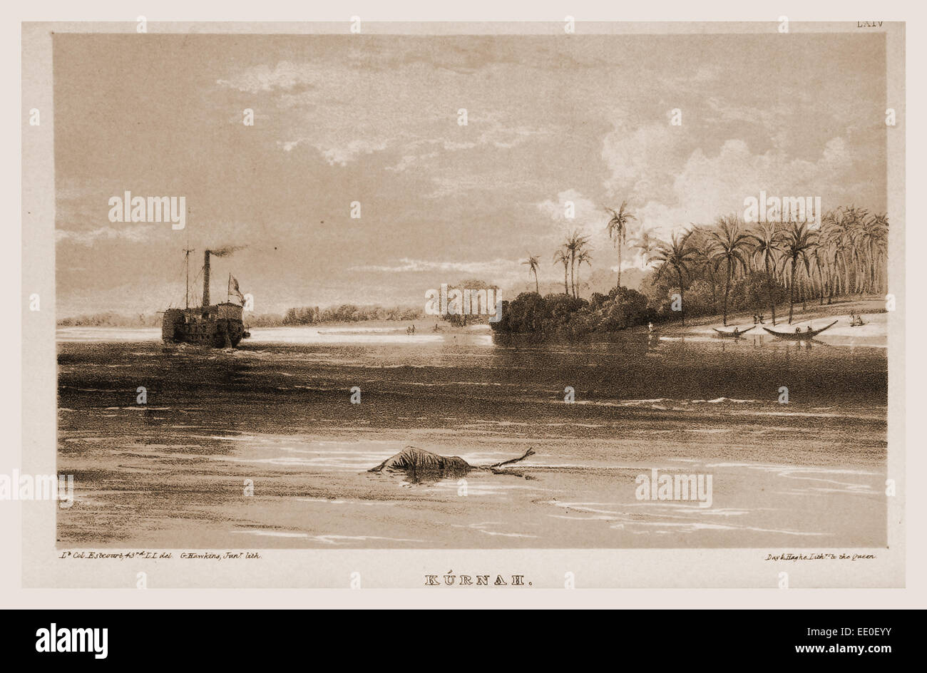 Kurnah, Narrative of the Euphrates Expedition carried on by Order of the British Government during the years 1835, - Stock Image